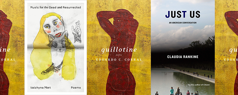 side by side series of the covers of Guillotine, Just Us, and Music for the Dead and Resurrected