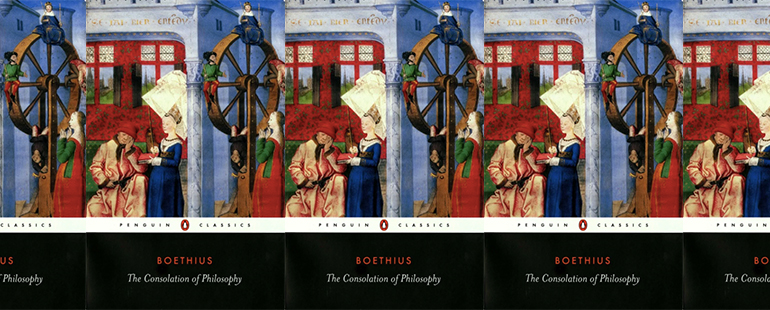 side by side series of the cover of the consolation of philosophy