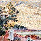 Two Women in a Seascape: painting by Henri Edmond Cross