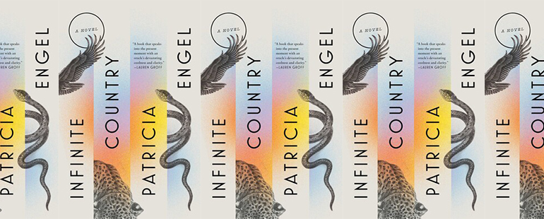 side by side series of the cover of Infinite Country