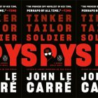 side by side series of the cover of Tinker Tailor Soldier Spy