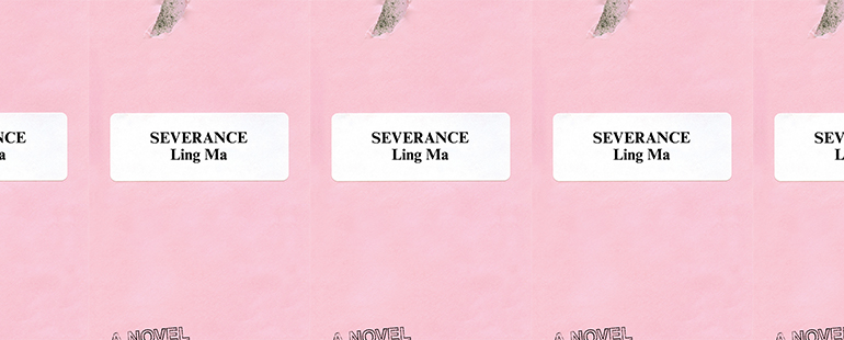 side by side series of the cover of Severance
