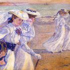 Theo van Rysselberghe - Women Walking on the Beach