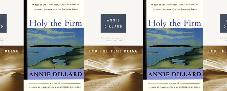 side by side series of the covers of For the Time Being and Holy the Firm