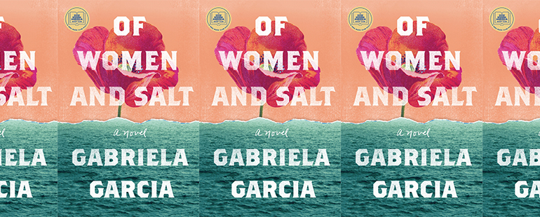 side by side series of the cover of Of Women and Salt