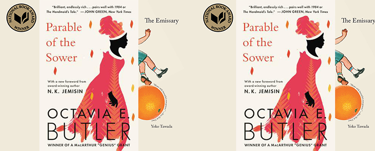 side by side series of the cover of The Emissary and The Parable of the Sower