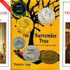 side by side series of the cover of The Surrender Tree and book of poetry by Martí