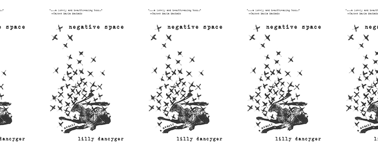side by side series of the cover of Negative Space