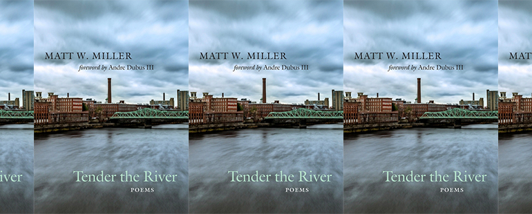 side by side series of the cover of Miller's Tender the River
