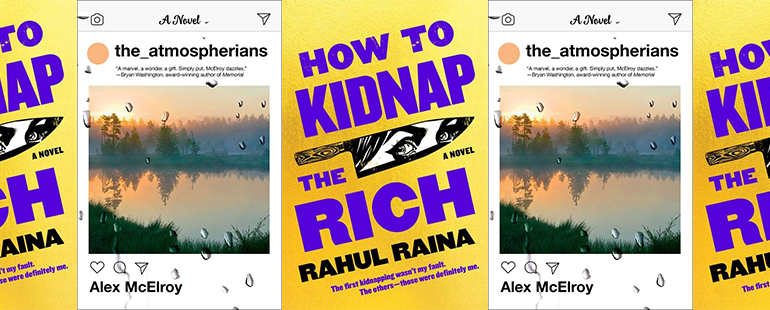 side by side series of the covers of The Atmospherians and How to Kidnap the Rich