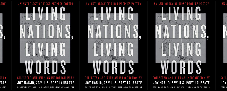 side by side series of the cover of Living Nations, Living Words