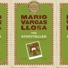 side by side series of the cover fo The Storyteller