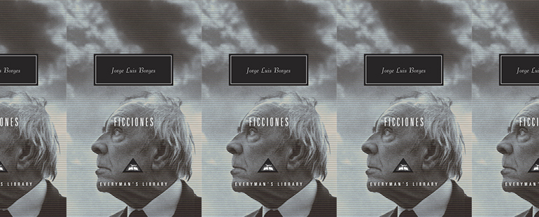 side by side series of the cover fo Ficciones