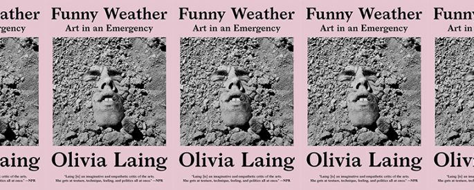 side by side series of the cover of Funny Weather