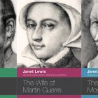 side by side series of the covers of Janet Lewis's works
