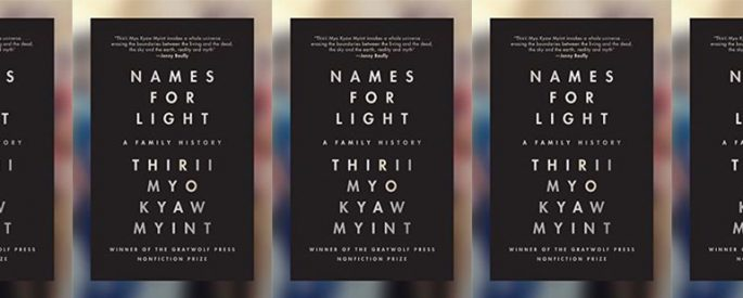 side by side series of the cover of Names for Light