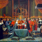 painting of the wedding of Louis XIV
