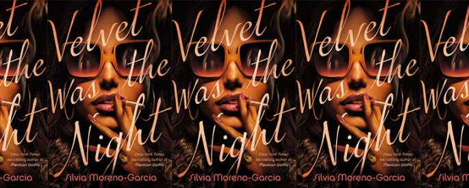side by side series of the cover of Velvet Was the Night