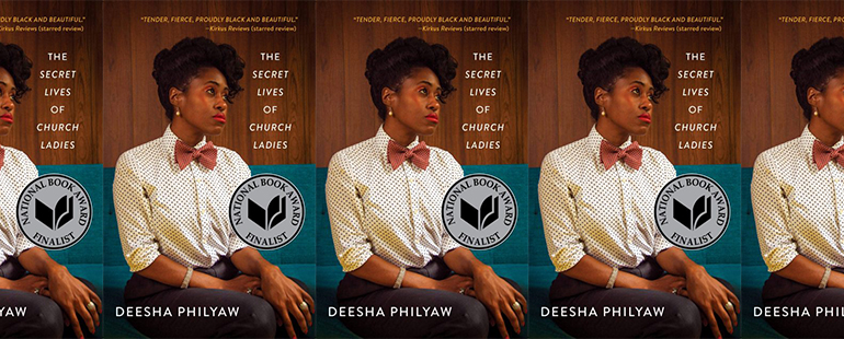 side by side series of the cover of the secret lives of church ladies by deesha philyaw