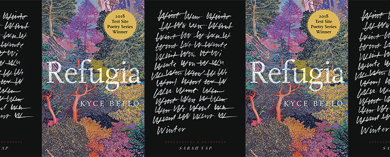 side by side series of the covers of Refugia and Winter