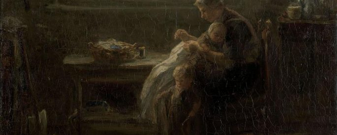 """the painting """"the joy of motherhood"""" by jozef israels"""